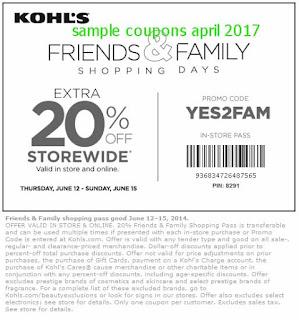 Kohls coupons april