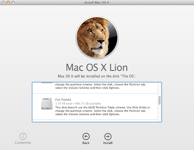 How to install Mac OS X Lion on a MBR partition