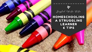 Homeschooling a struggling learner