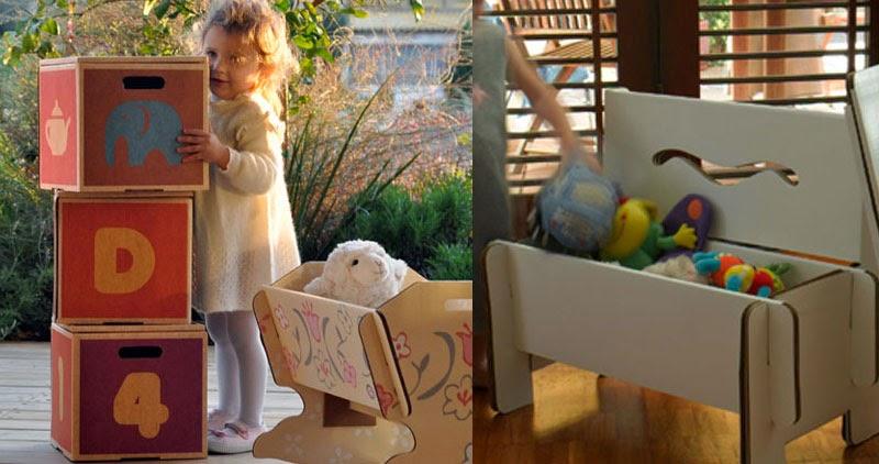Muebles y juguetes de cartón reciclado Green Lullaby