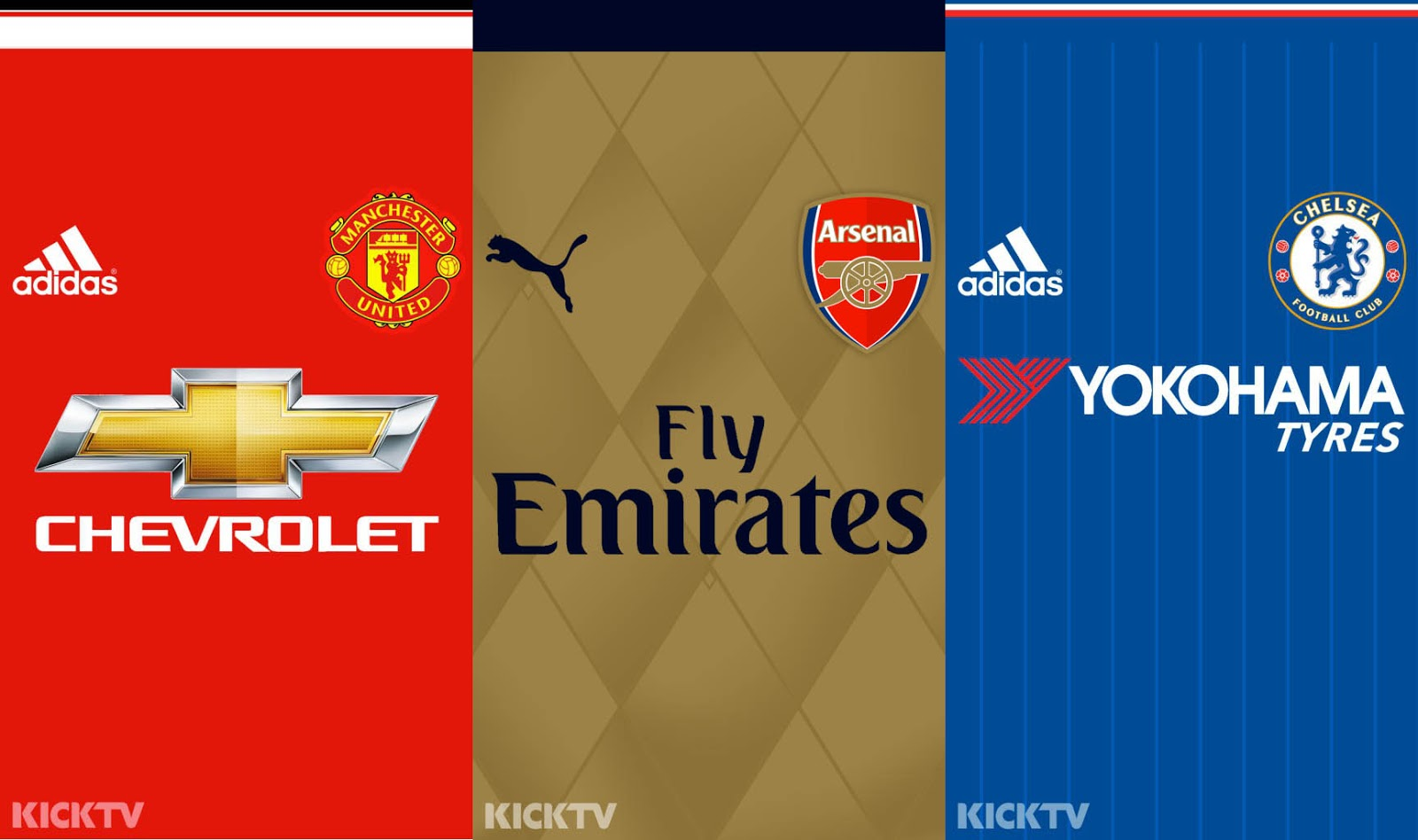 Premier League 15-16 Kit Mobile Wallpapers - Footy Headlines