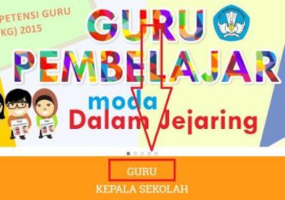 Login Aplikasi Guru Pembelajar Kemdikbud 2016