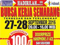 Bursa Kerja Tanggal 27 - 28 September 2016 di Gedung Museum Ronggowarsito Semarang