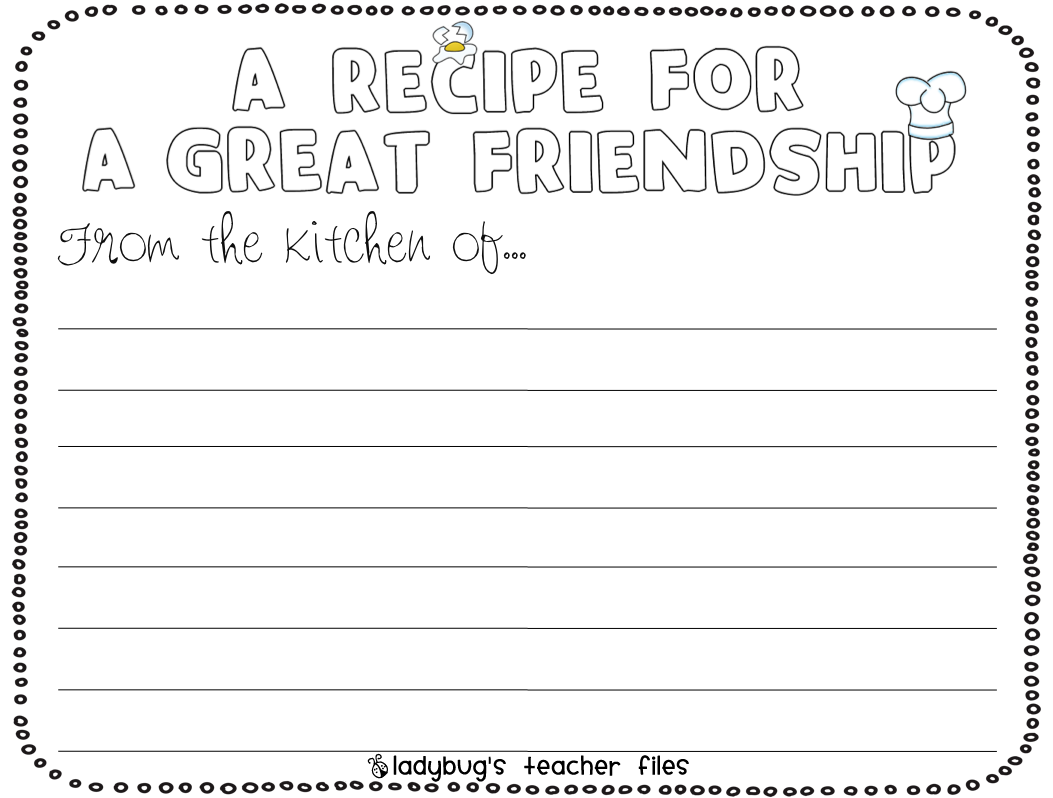 Enemy Pie (Friendship) Writing Activities - Ladybug's ...
