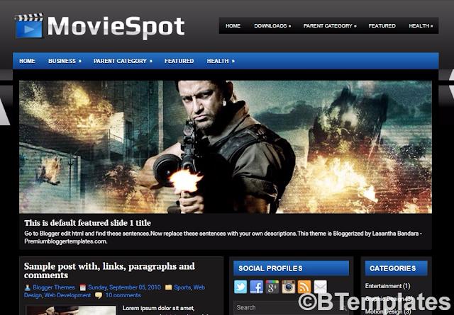 MovieSpot Blogger Template