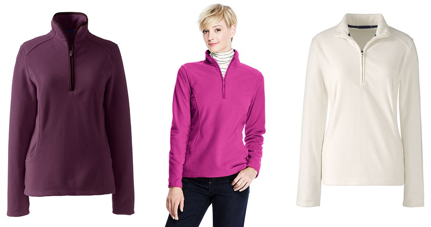 Lands' End 100 Everyday Fleece Half-Zip $8 (reg $29)