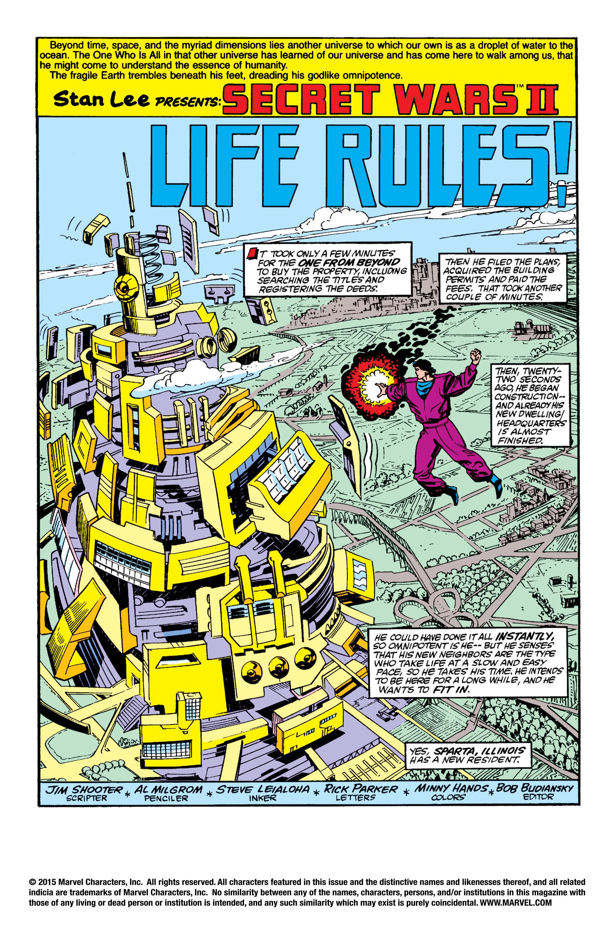 Read online Secret Wars II comic -  Issue #6 - 2