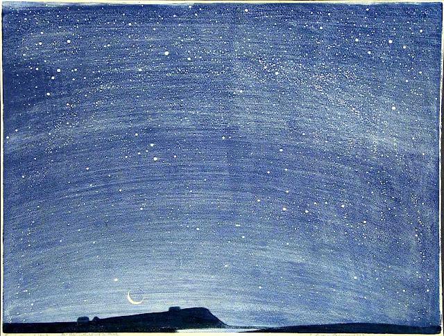 Erich Buchwald-Zinnwald 1915 night sky