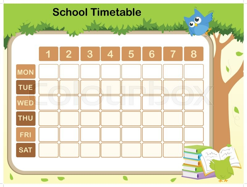 Timetable Templates For School in Excel Format - Excel Template - templates for teachers