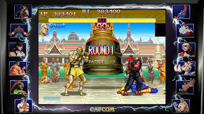Street Fighter 30th Anniversary Collection - Super Street Fighter II Turbo - M.Bison stage - Sagat VS Akuma