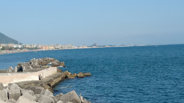 Salerno, the city coast line