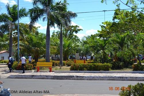Prefeitura de Aldeias Altas revitaliza Praça Gonçalves Dias