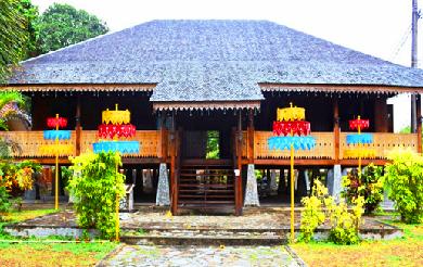 Rumah Adat Provinsi Bangka Belitung yang beribukota di Kota Pangkal Pinang