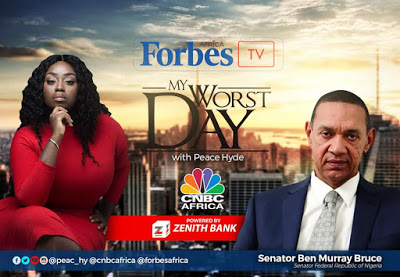 """""""We lost millions of dollars,"""" Watch the full episode of Senator Ben Murray-Bruce on Forbes Africa TV My Worst Day with Peace Hyde"""