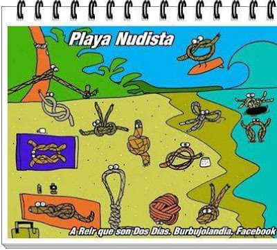 Playa nudista, nudos
