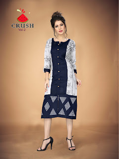 Watermelon Crush vol 2 Rayon kurtis wholesaler. buy online Crush vol 2 Daily wear rayon kurtis L XL XXL Size at Diwan fashion Surat.