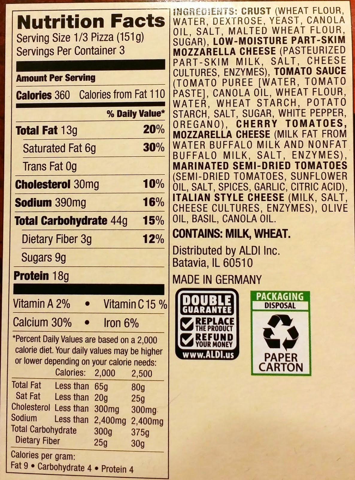 Cpk Bread Nutrition Facts – Besto Blog