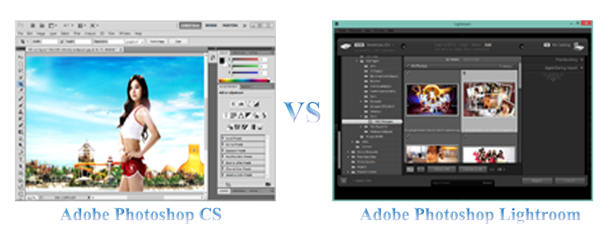 Perbedaan Adobe Photoshop CS Dengan Adobe Photoshop Lightroom