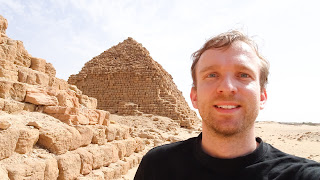 In front of Nuri pyramids