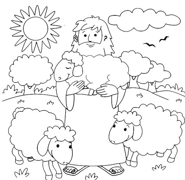 jesus the sheperd coloring pages | Light a Candle for Children