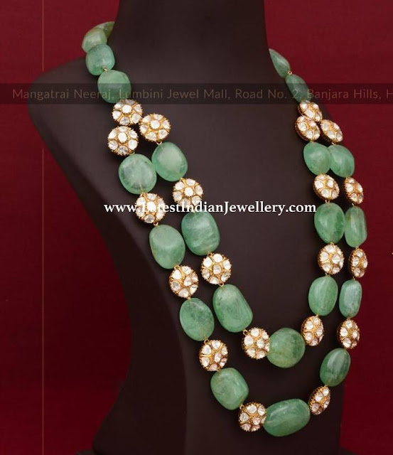 2 Step Large Emerald Beads Mala