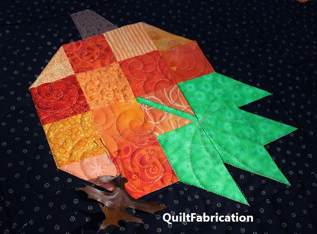 scrappy pumpkin block by QuiltFabrication