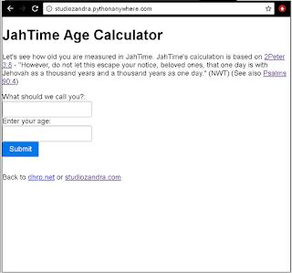 "python flask web app called ""JahTime"", running on pythonanywhere.com"