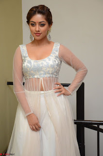 Anu Emmanuel in a Transparent White Choli Cream Ghagra Stunning Pics 114.JPG