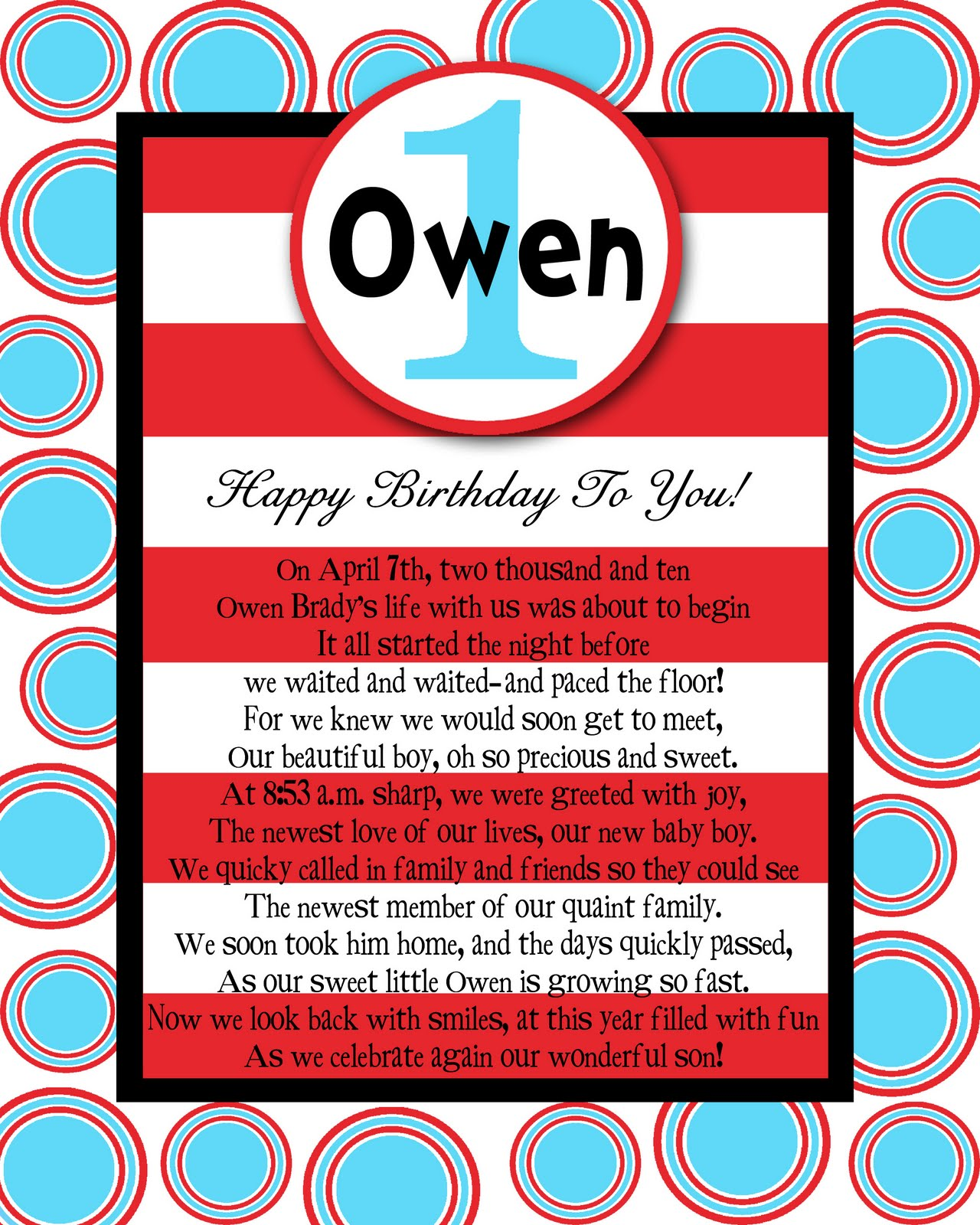 First Birthday Poems And Quotes. QuotesGram