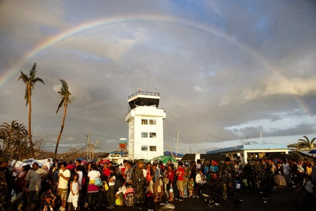 Rainbow in Tacloban is a sign of hope to Survivors