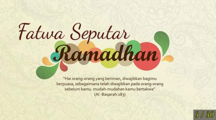 Ustadz Abdul Somad, Fatwa seputar ramadhan