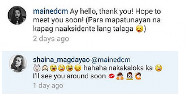 Maine Mendoza And Shaina Magdayao Exchanged Comments On Their Instagram Account! Must Read!