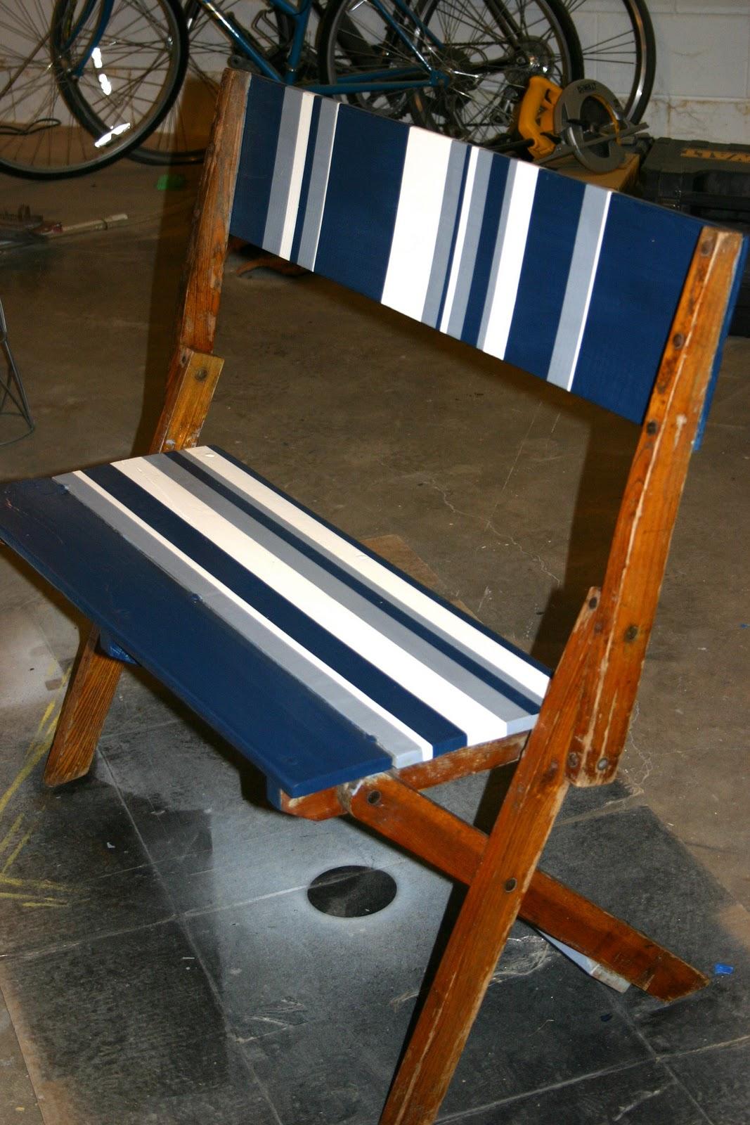 Doodle Bug Unique Folding Bench How To Paint Stripes