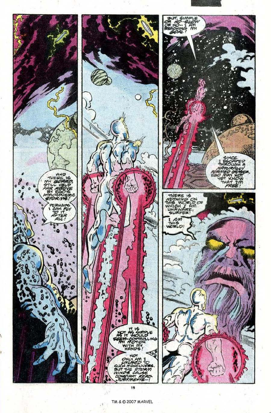 Read online Silver Surfer (1987) comic -  Issue #22 - 21