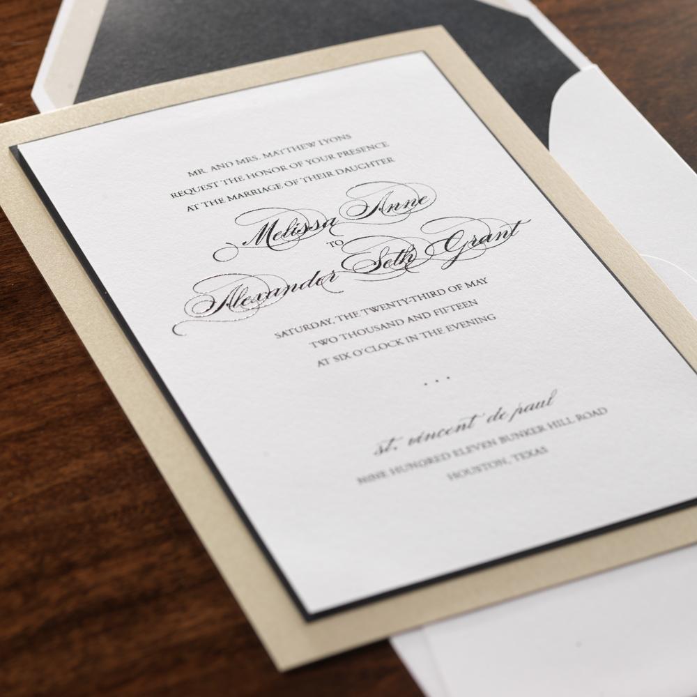 Wedding Invitations Houston Isabella Invitations