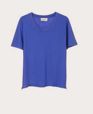 Tee-shirt indigo american vintage