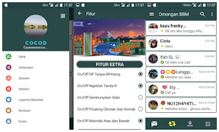 Download BBM MOD Green Grey APK V3.1.0.18