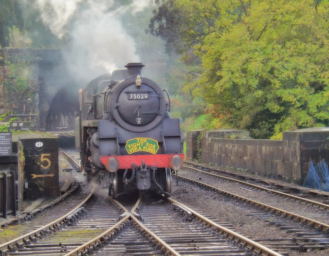 Steam-engine-on-the-rails-Grosmont-Station