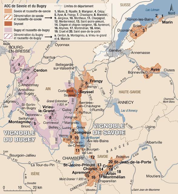 Vignobles du Bugey et de la Savoie