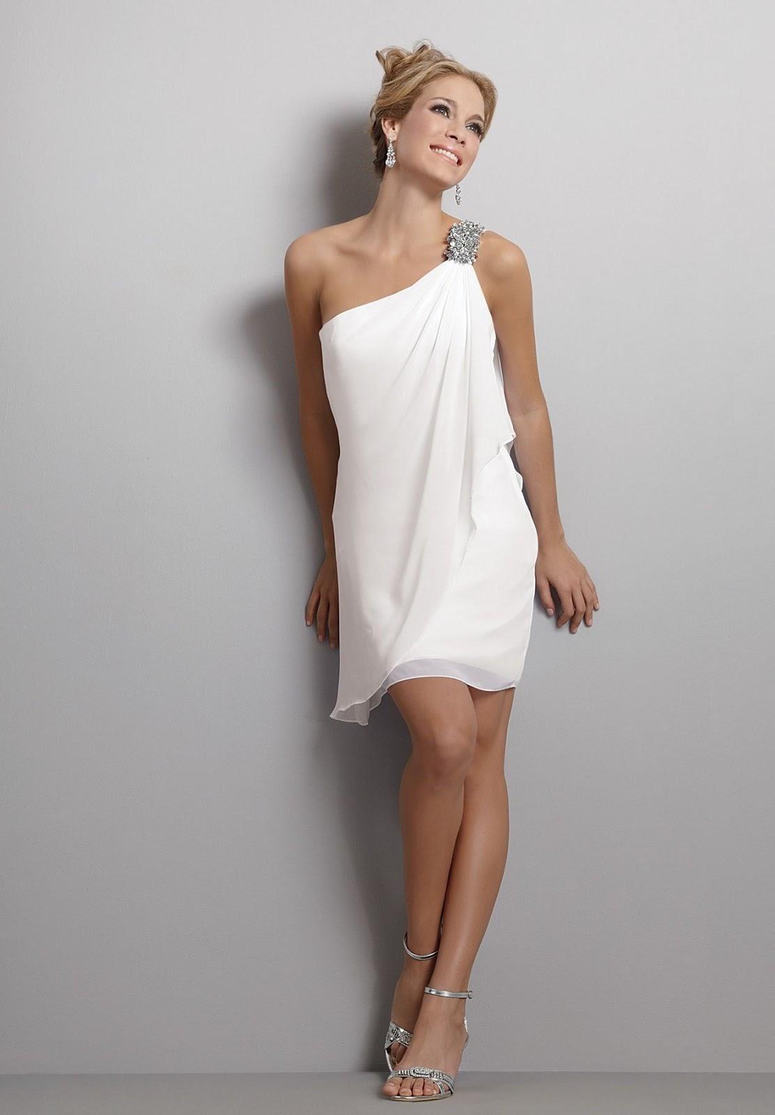 Wedding Reception Dresses: Short White Wedding Reception ...