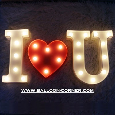 Lampu LED Bentuk Hati / Love