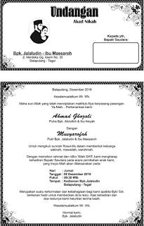 undangan akad nikah