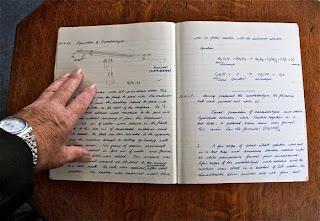handschriftliches Protokoll