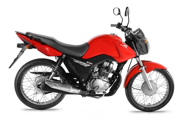 Resultado de imagem para motocicleta Honda/CG 125 Fan, de cor vermelha