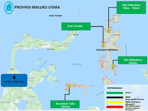 Lokasi Tes Cat BKN Propinsi Maluku Utara