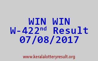WIN WIN Lottery W 422 Results 7-8-2017