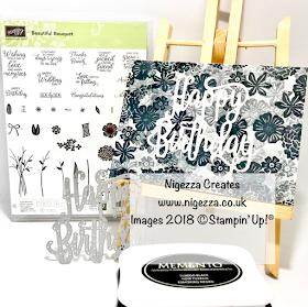 #simplestamping Beautiful Bouquet Birthday Card Nigezza Creates