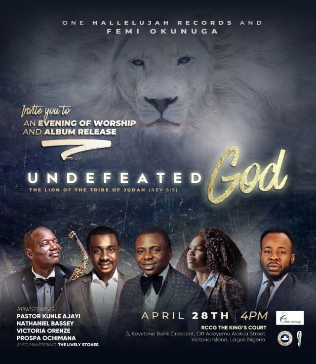 "Femi Okunuga, Evening of Worship & Album Release ""Undefeated God"""