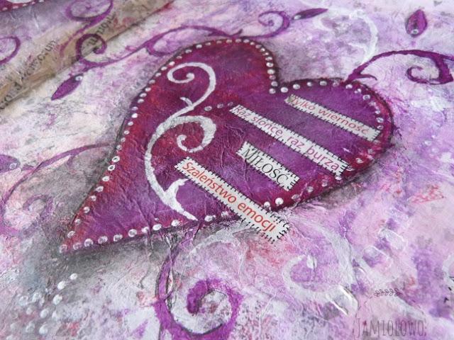 art journal - walentynkowe serca