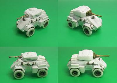 Humber with Mk II and Mk III turrets